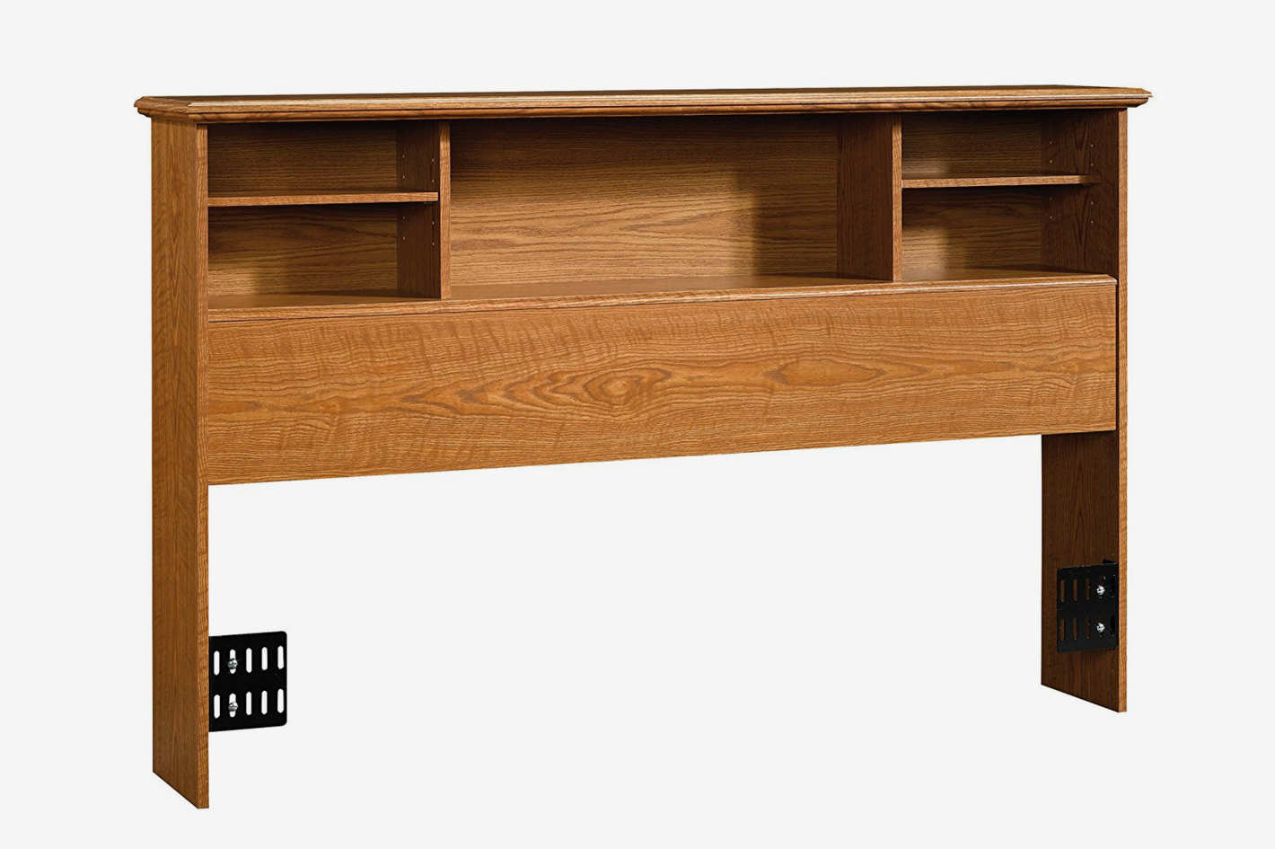 Sauder Orchard Hills Bookcase Headboard in Carolina Oak