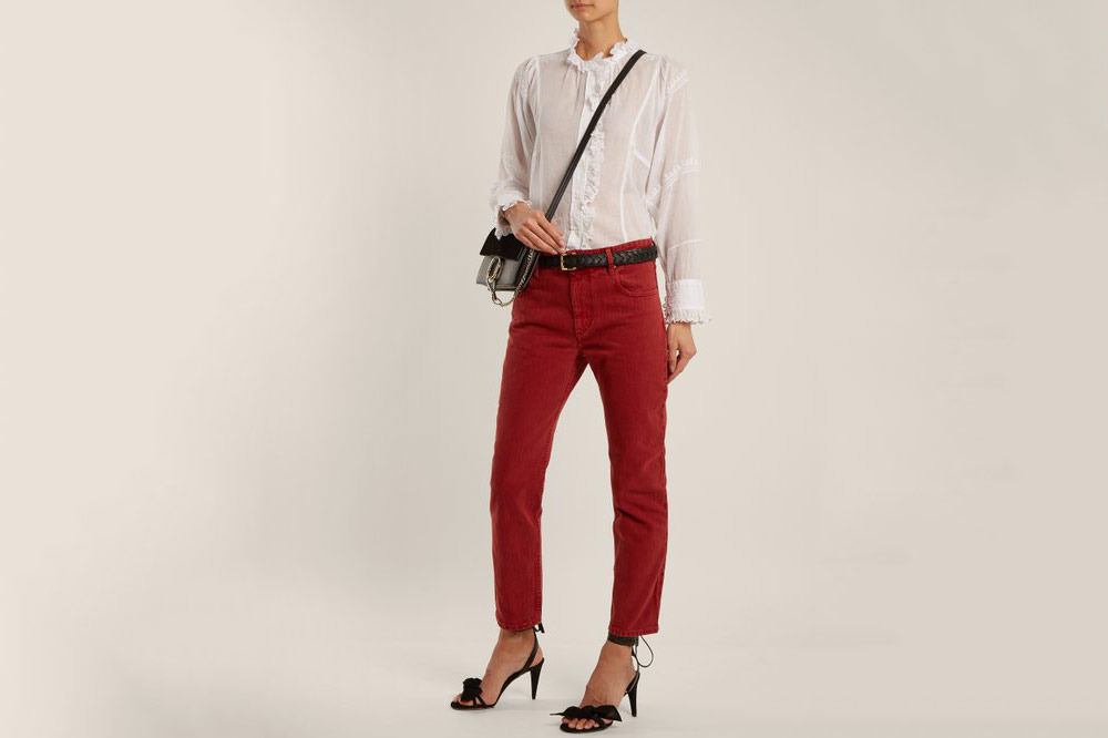 Isabel Marant Etoile Cliff High-Rise Straight-Leg Cropped Jeans