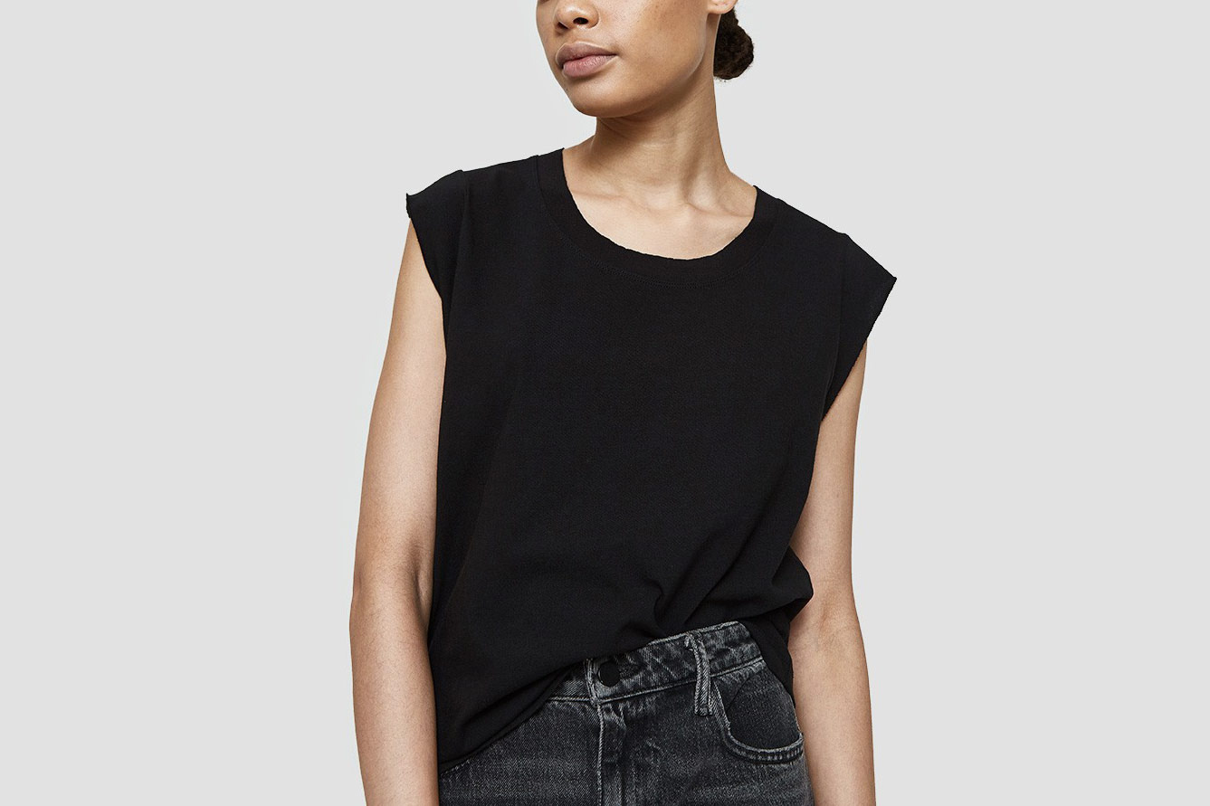 T by Alexander Wang High Twist Jersey Muscle Tee