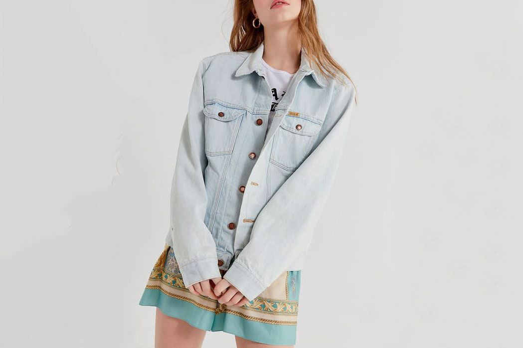 Vintage Bleached-Out Denim Jacket