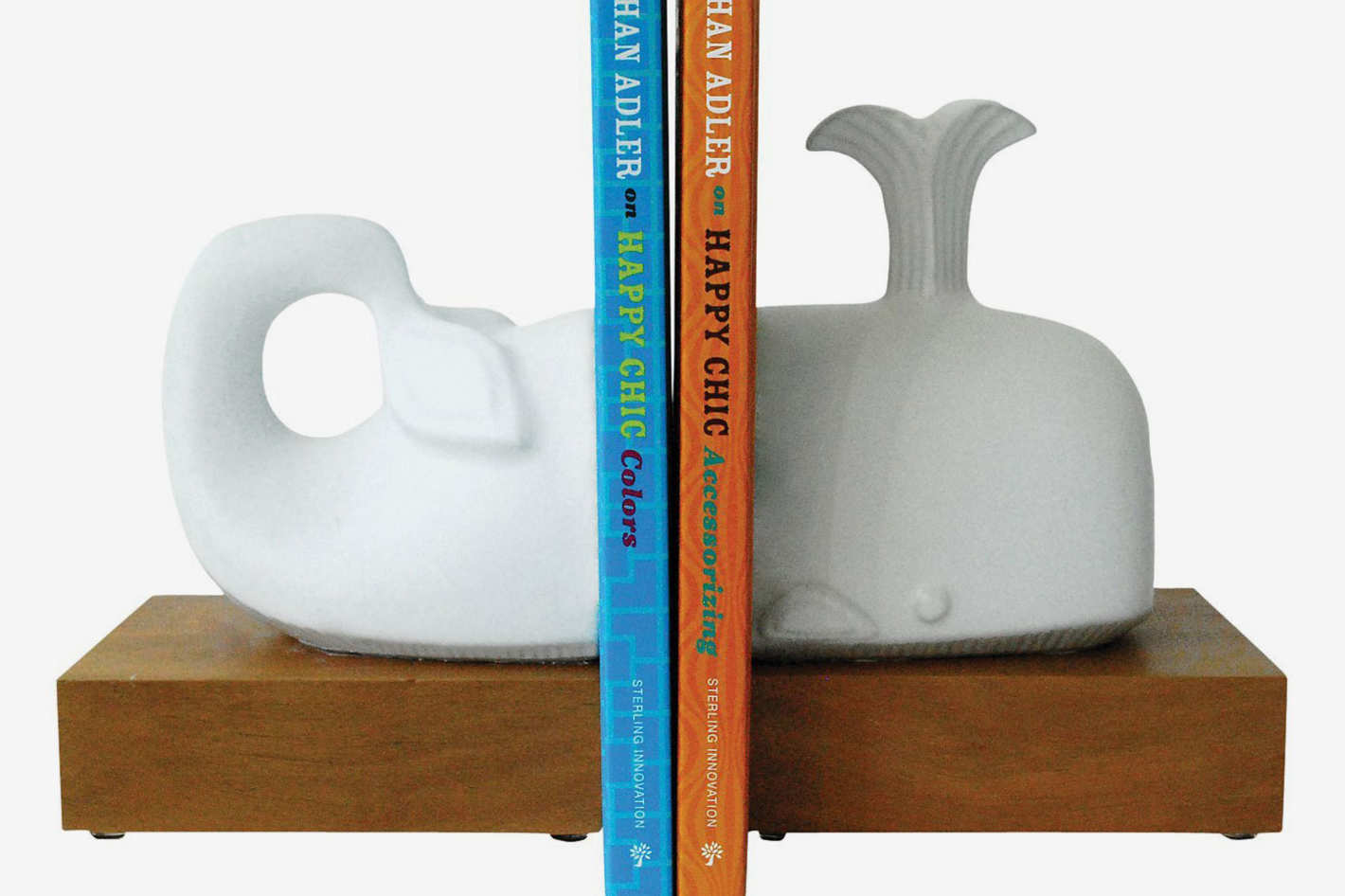 Menagerie Whale Bookend Set