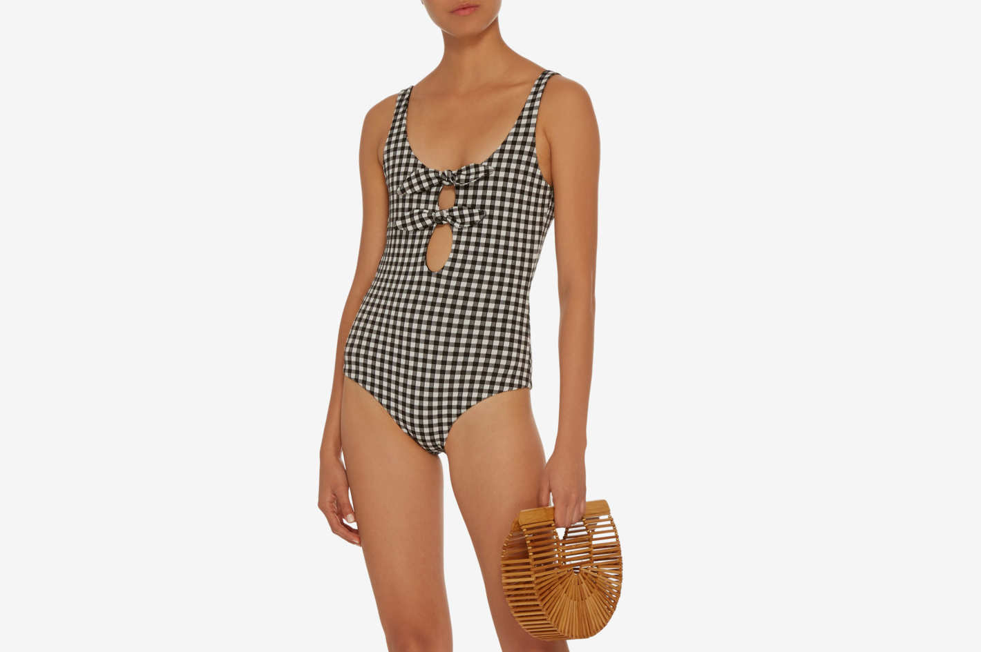 Mara Hoffman Maven Gingham One Piece Swimsuit