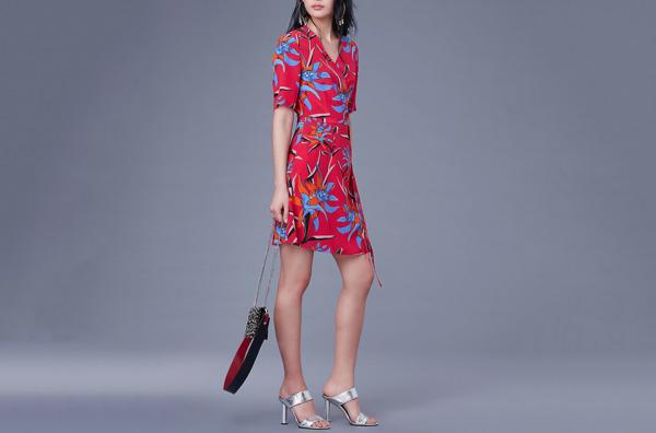 DVF New Savilla Woven Wrap Dress