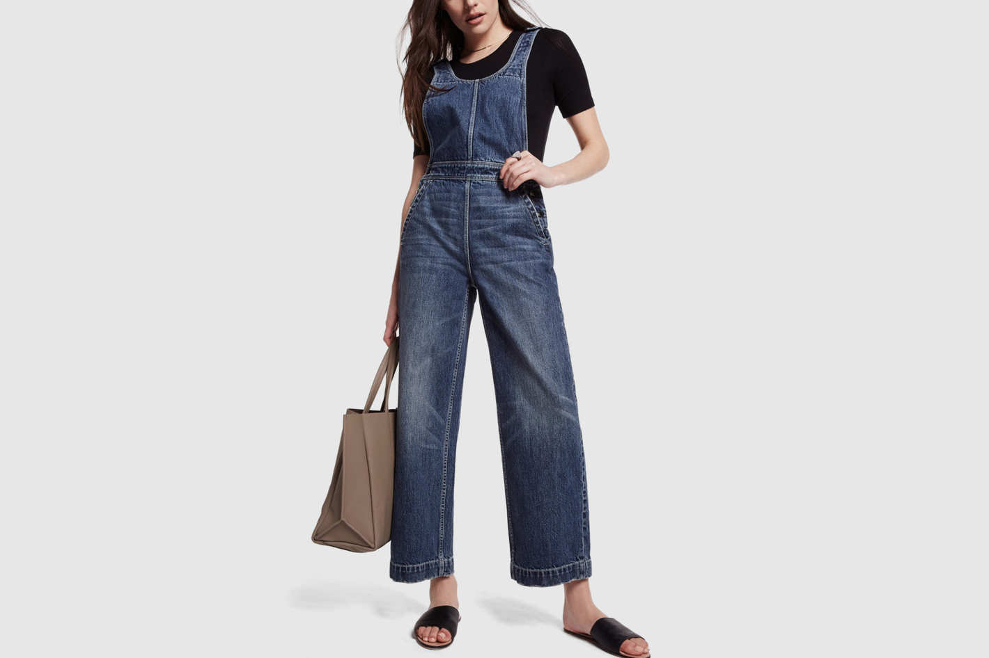 Rebecca Taylor Sleeveless Denim Jumpsuit