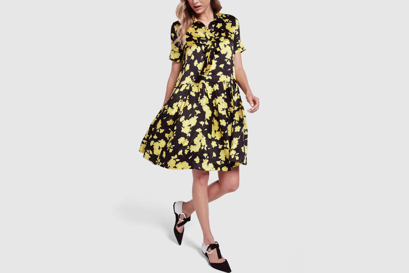 Rochas Mercury Floral Dress