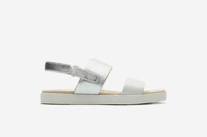 Clarks Botanic Rose Womens Sandals in Silver Combi
