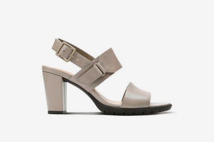 Clarks Kurtley Shine Womens Sandals in Sage Leather