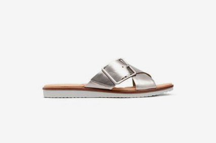 Clarks Kele Heather Womens Sandals in Pewter Leather