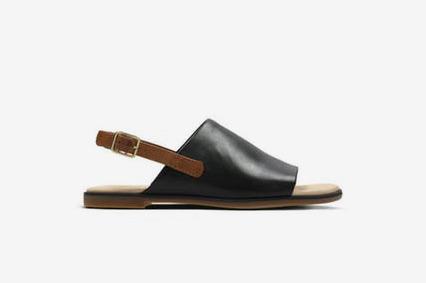 Clarks Bay Jasmine Womens Sandals in Black Leather