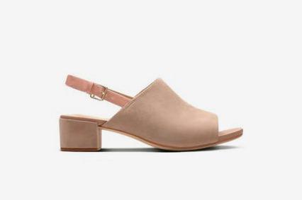 Clarks Orabella Ivy Womens Sandals in Nude Suede