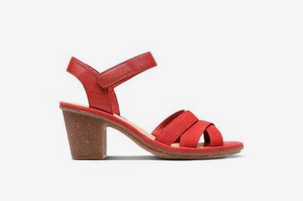 Clarks Sashlin Jeneva Womens Sandals in Red Nubuck
