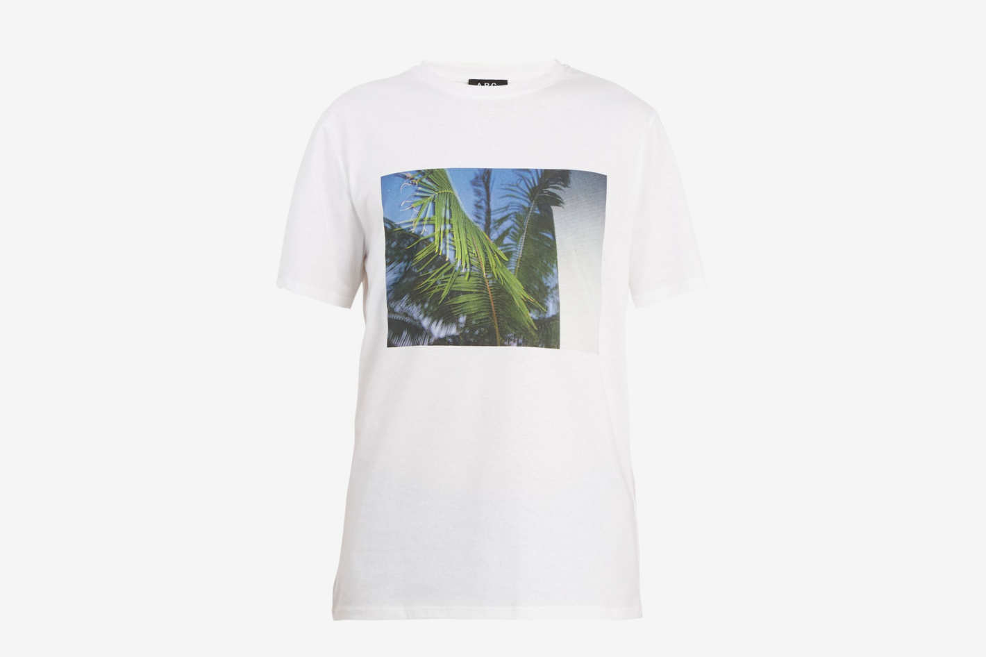 A.P.C.Palm Tree-Print Cotton T-shirt
