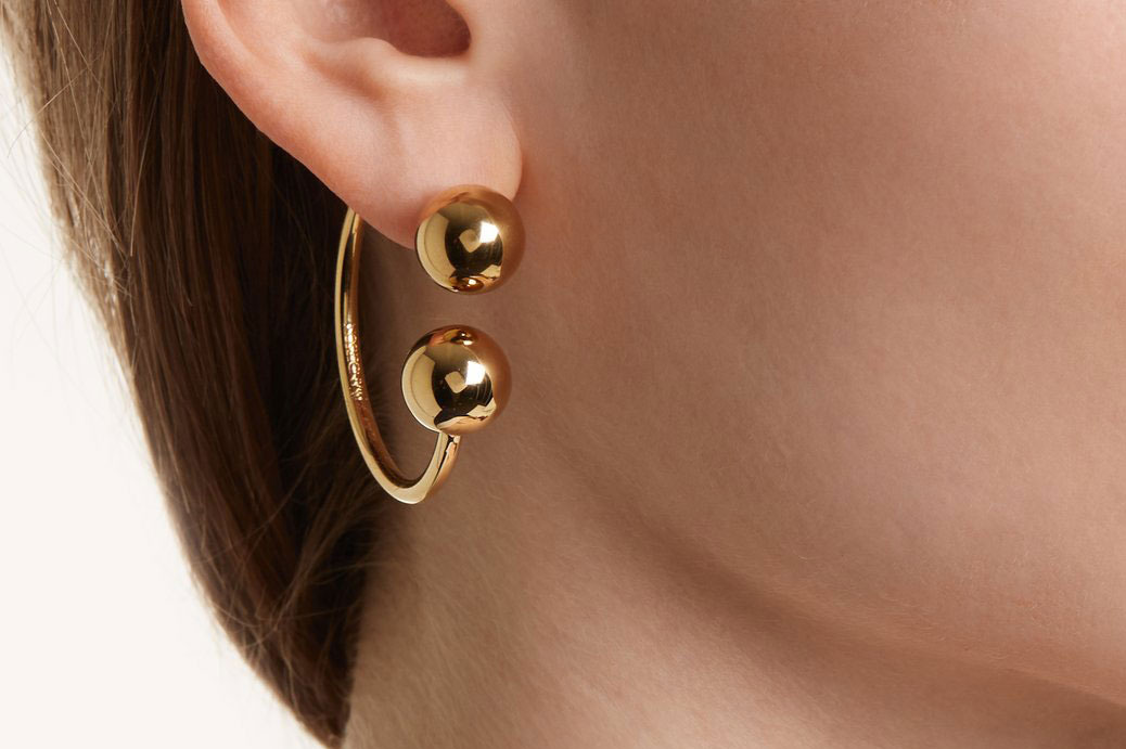 JW Anderson Sphere-End Hoop Earrings
