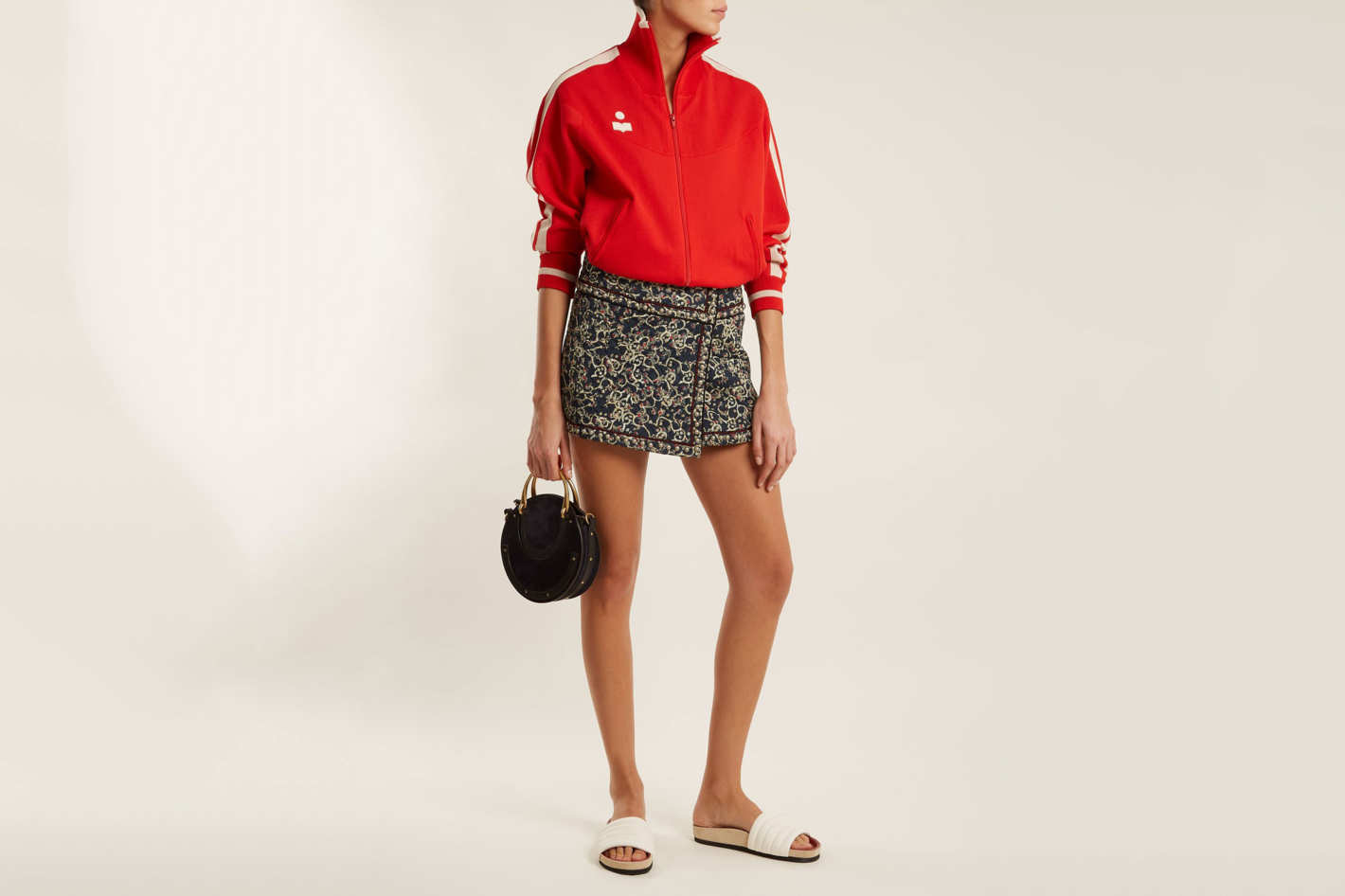 Isabel Marant Etoile Hanon Quilted Cotton-Blend Mini Skirt