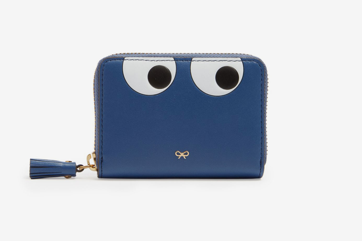 Anya Hindmarch Eyes Zip-Around Small Leather Wallet