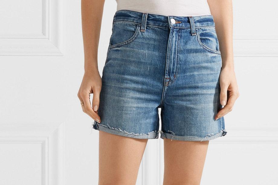 J.Brand Joan Distressed Denim Shorts