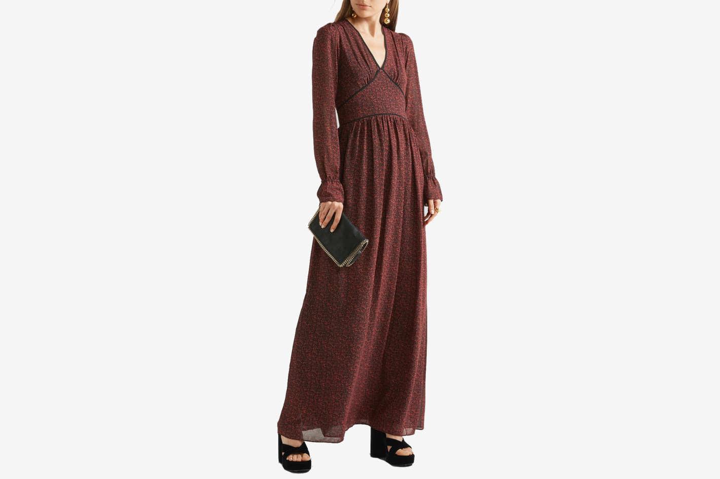 Michael Michael Kors Printed Chiffon Maxi Dress