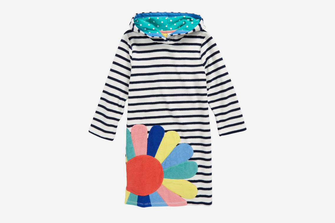 Mini Boden Appliqué Toweling Beach Dress