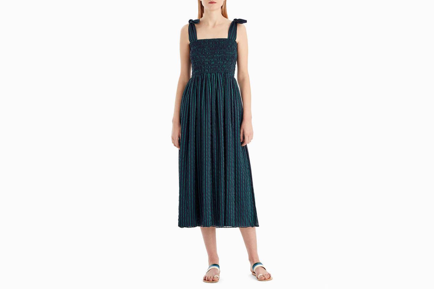 Grey by Jason Wu Striped Chiffon Sleeveless Dress