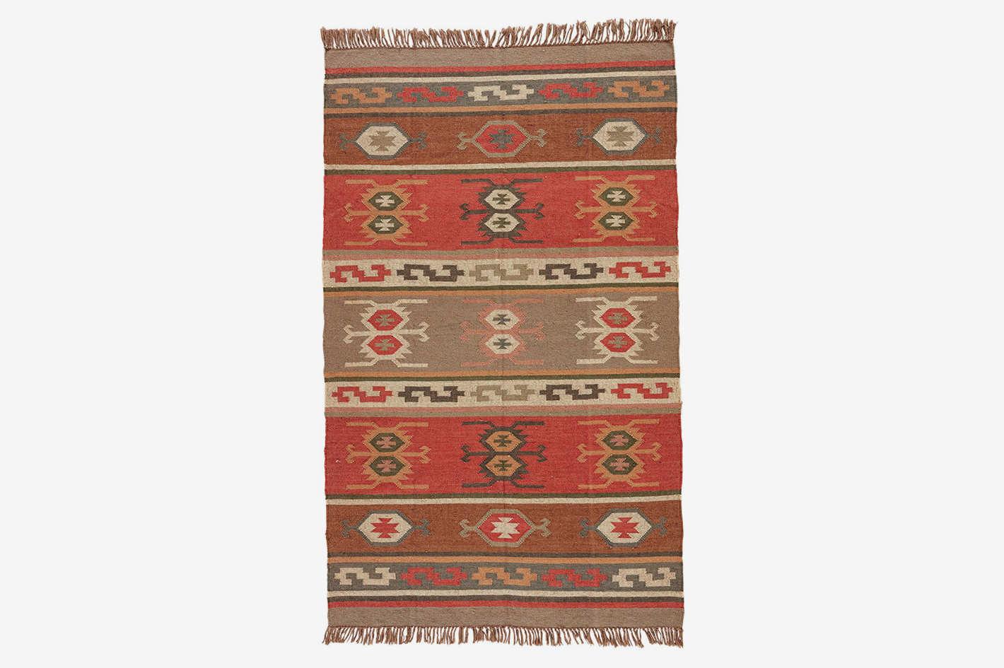 Jaipur Living Thebes Reversible Flatweave Tribal Red Area Rug