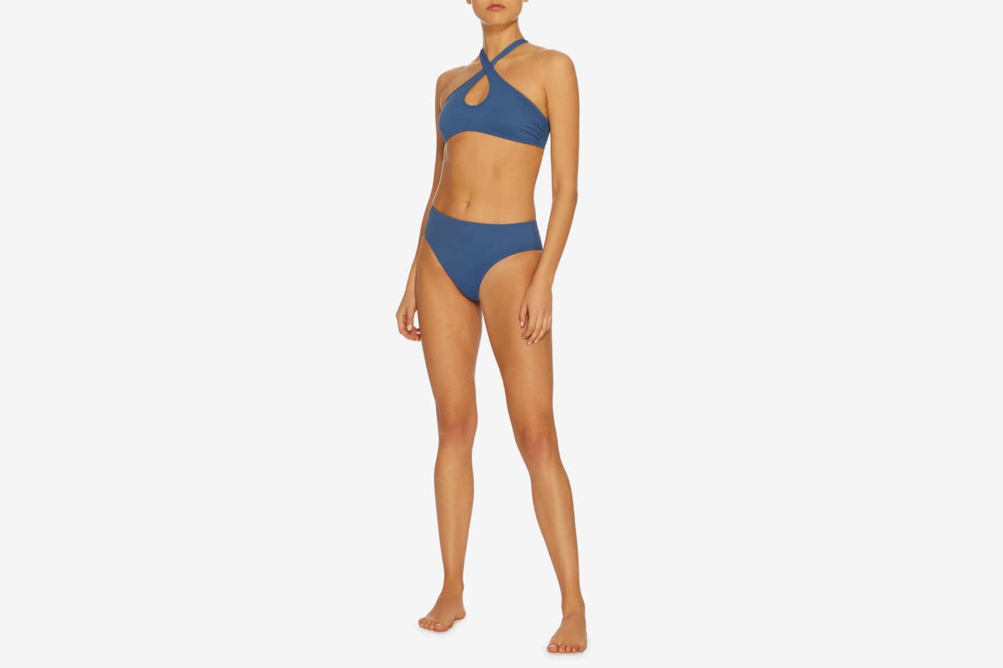 Solid & Striped Marissa Keyhole Halter Bikini Top