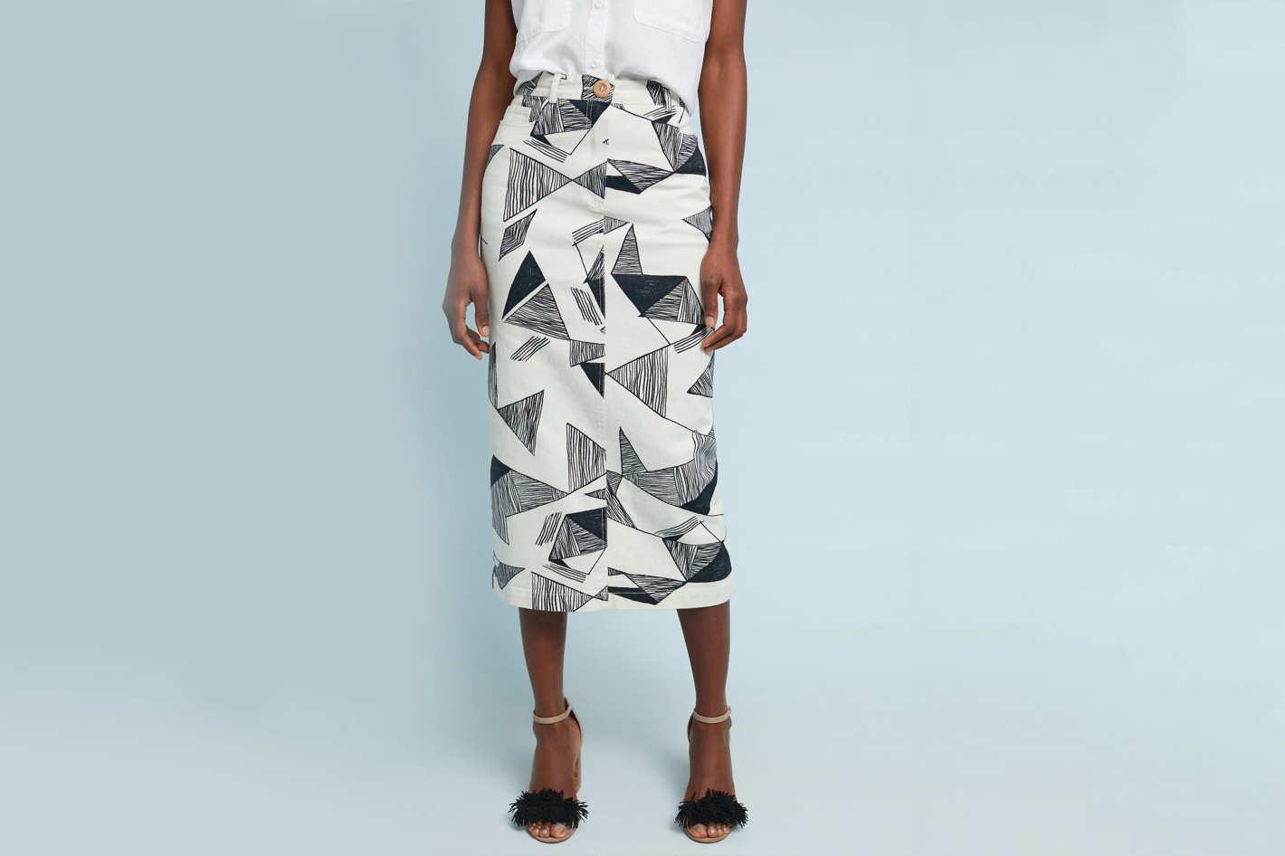 SISSA Graphite Denim Skirt