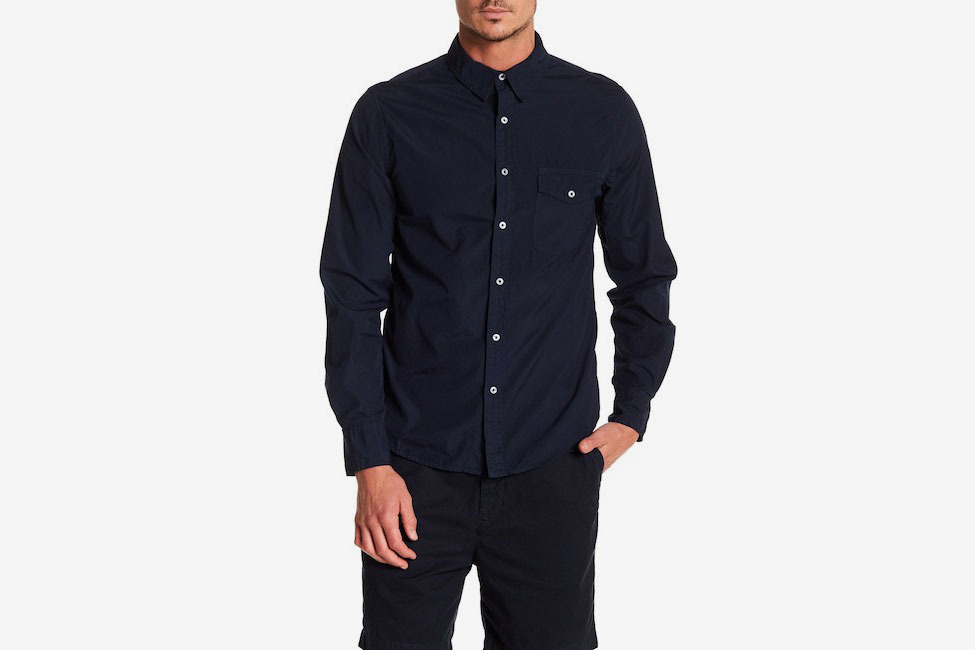 Save Khaki Poplin Work Classic Fit Shirt
