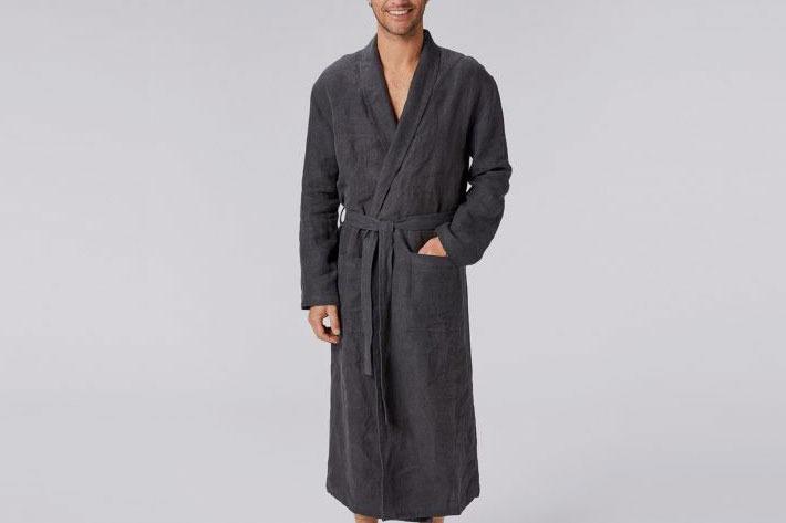 Coyuchi Men's Relaxed Linen Robe
