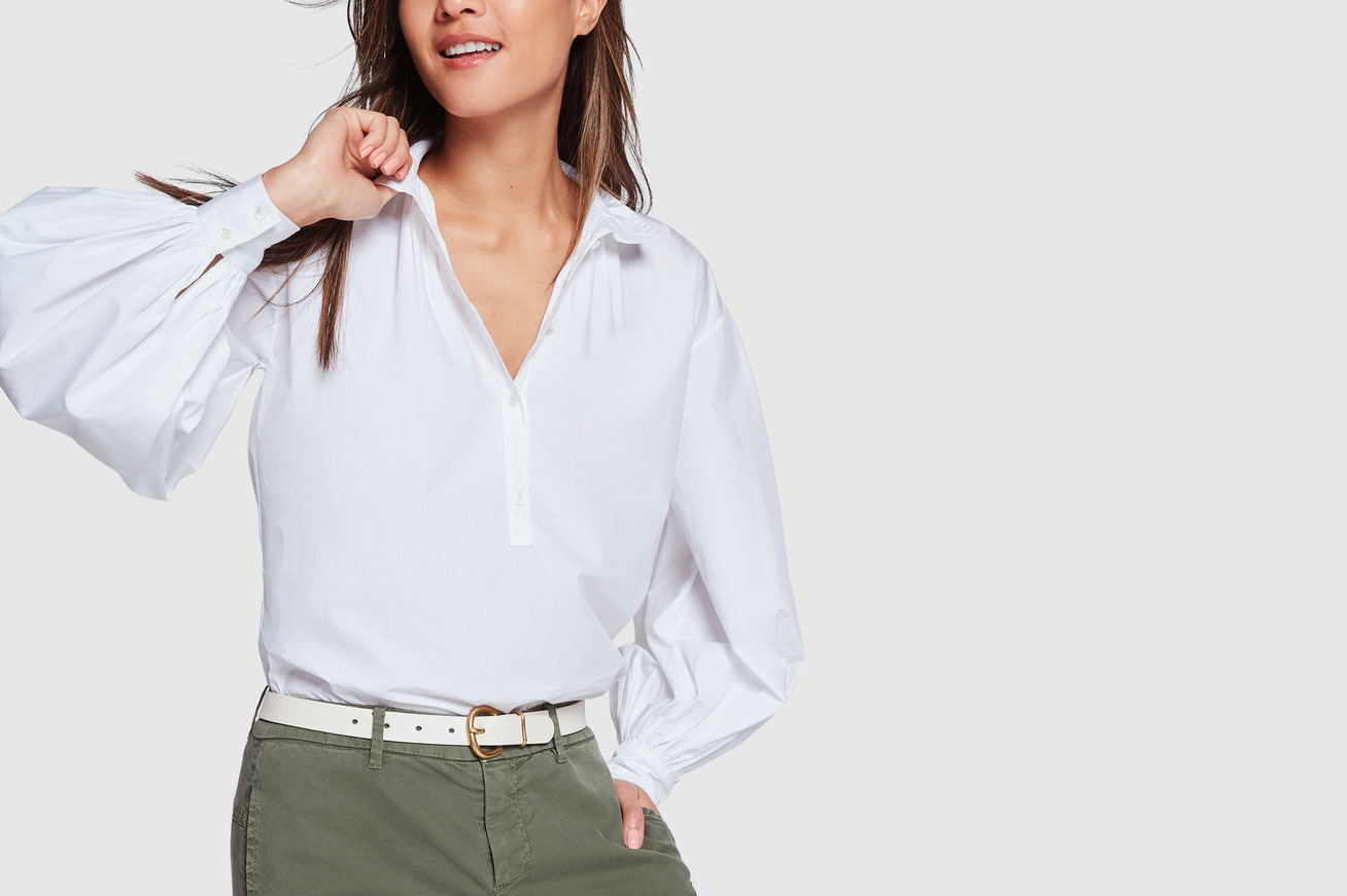 Nili Lotan Claira Cotton Button-Up Top