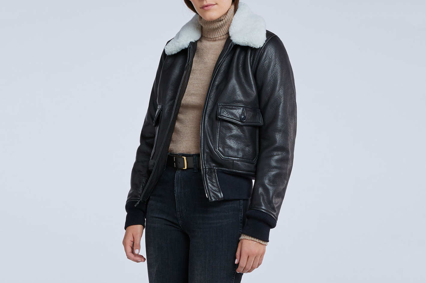 Cockpit USA x Goop G-1 Kelly Sheepskin Jacket