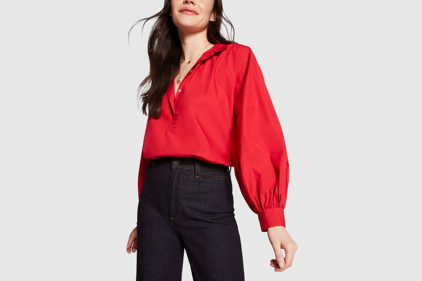 Nili Lotan Claira Button-Up Blouse