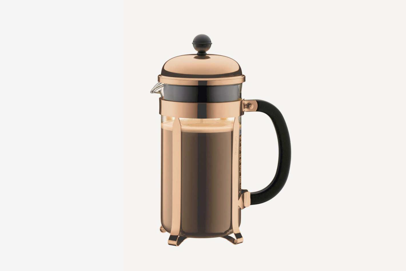 Bodum Chambord Black Top Coffee Maker, 8 Cup