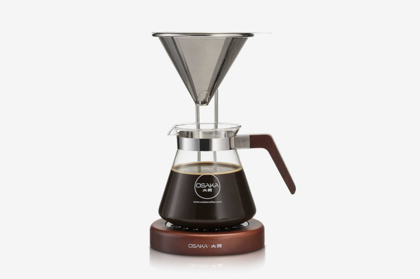 Osaka Pour-Over Coffee Dripper With Wood Stand