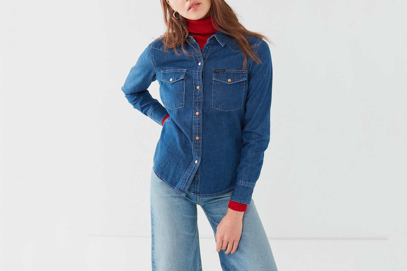 Calvin Klein Western Stitch Denim Shirt