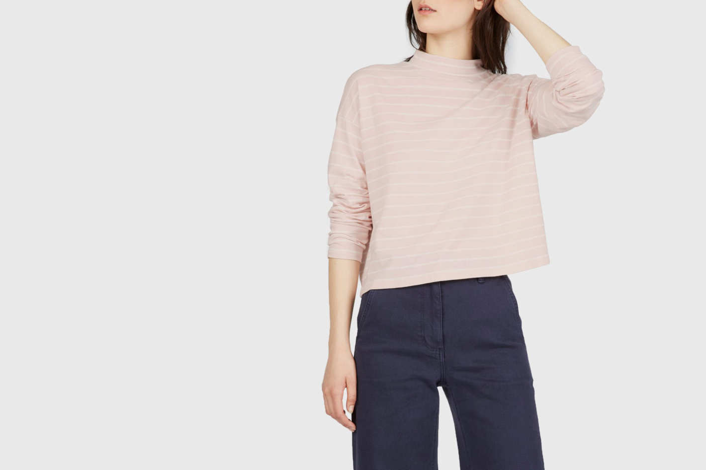 The Square Mockneck Tee