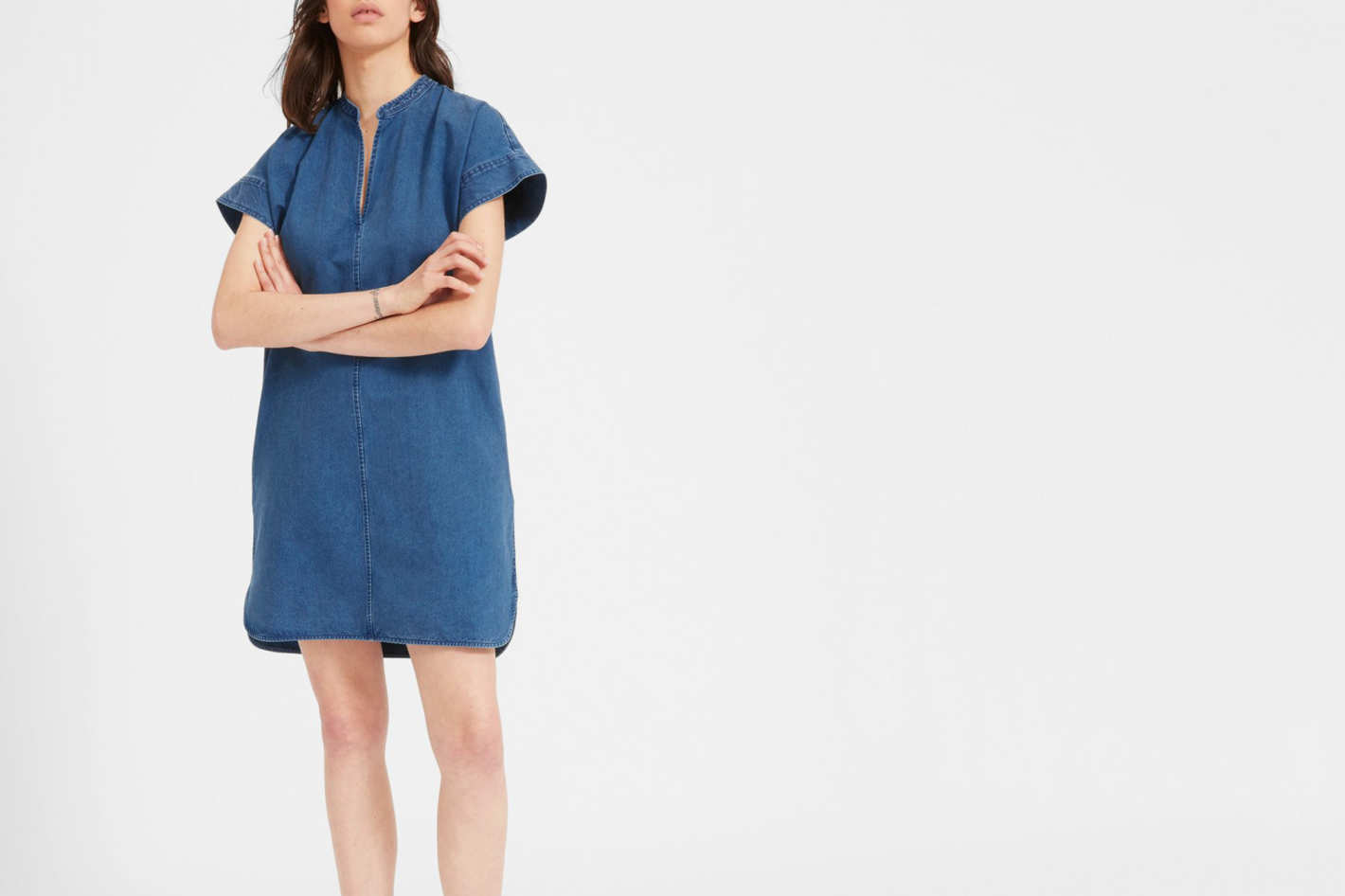 Everlane Splitneck Jean Dress