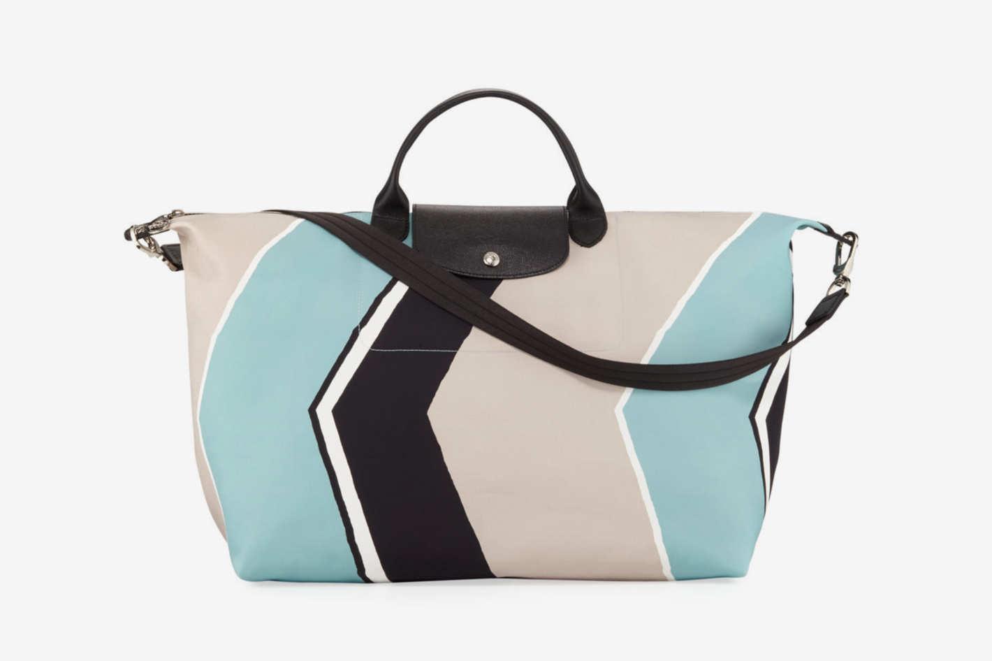 Longchamp Le Pliage Neo Geo Travel Bag, Aqua
