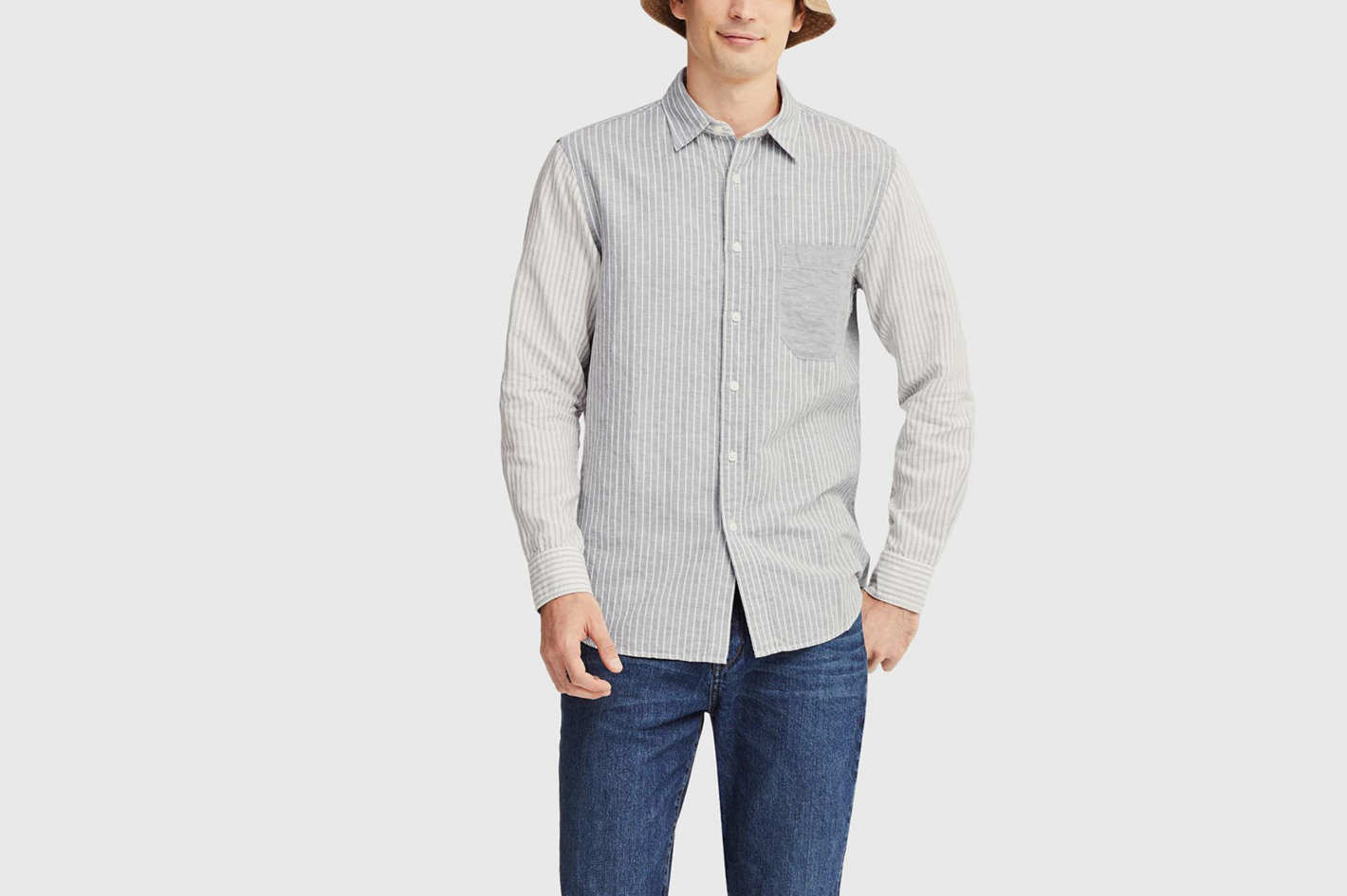 Uniqlo X JWA Linen Cotton Long-Sleeved Shirt