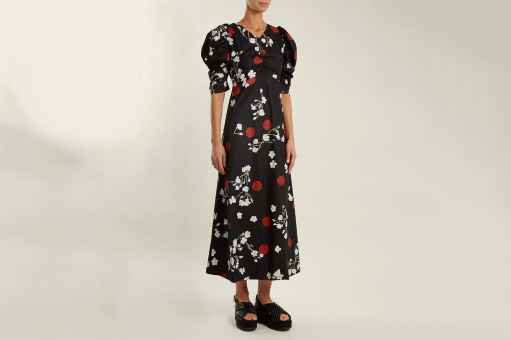 Isa Arfen Wow Obliterated Blossom Dress