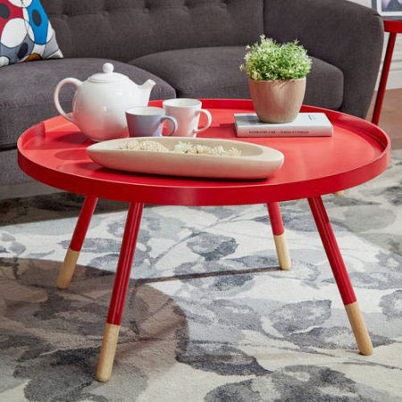 Chelsea Lane Round Tray Coffee Table