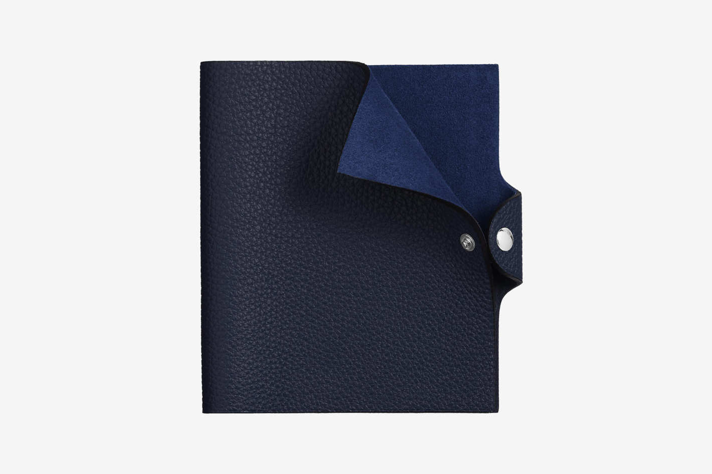 Ulysse Notebook Cover, Small Model in Bleu Nuit