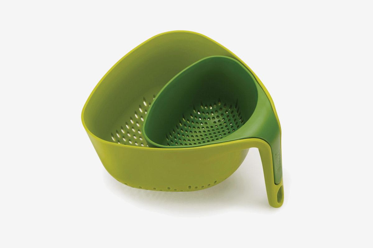 Joseph Joseph Nest 2-Piece Colander Set in Green