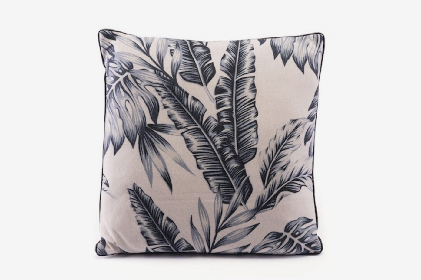 Zuo Decor Black/Beige Leaves Pillow