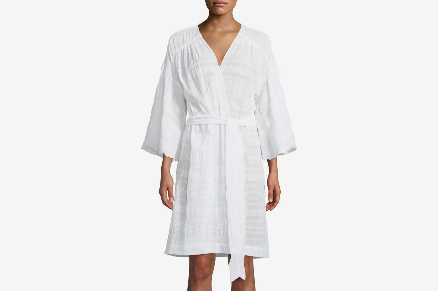 Skin Nina Cotton-Blend Robe
