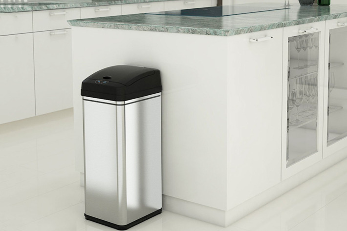 best top round step in simplehuman cans trash kitchen semi trashcans can