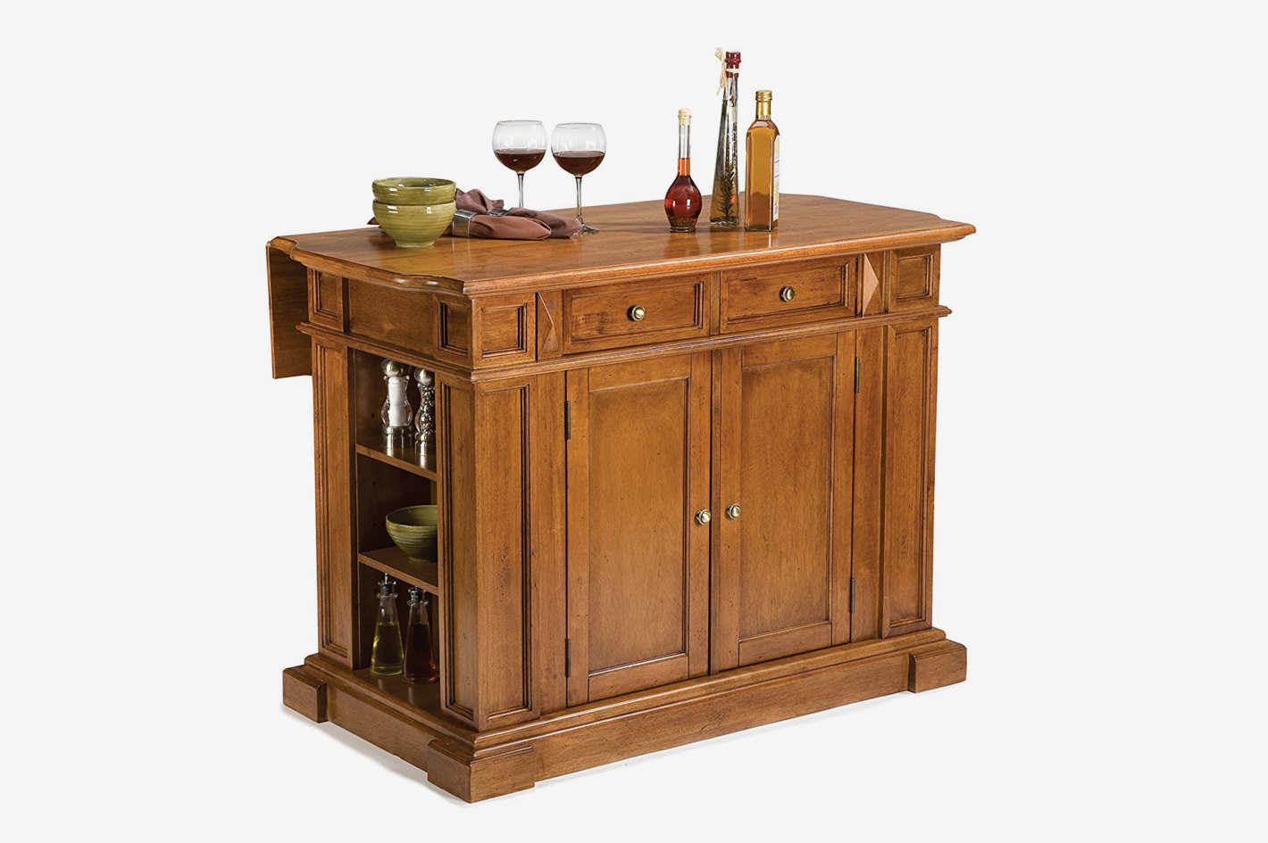 Home Styles 5004-94 Kitchen Island, Distressed Oak Finish