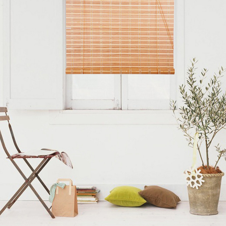 Natural Bamboo Roll Up Window Blind