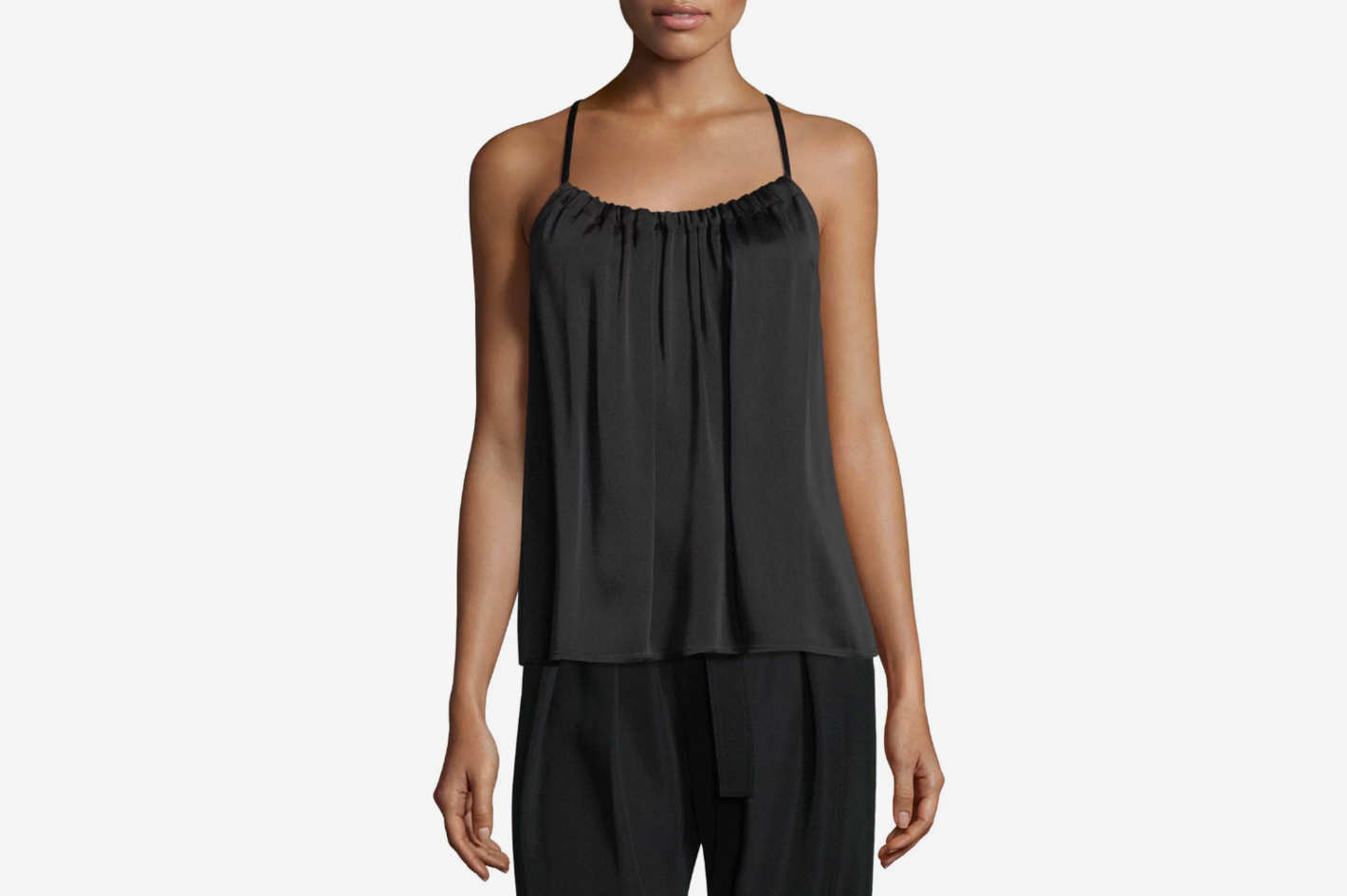 Vince Gathered Scoop-Neck Camisole Top
