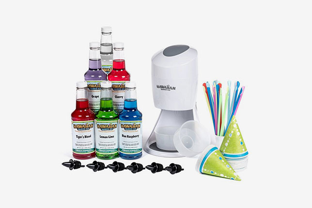 Hawaiian Shaved Ice Machine and Syrup 6 Flavor Party Package