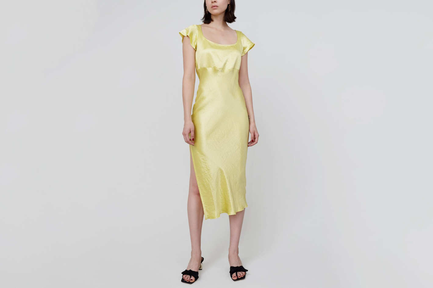 Paris Georgia Gracie Dress in Marigold Yellow